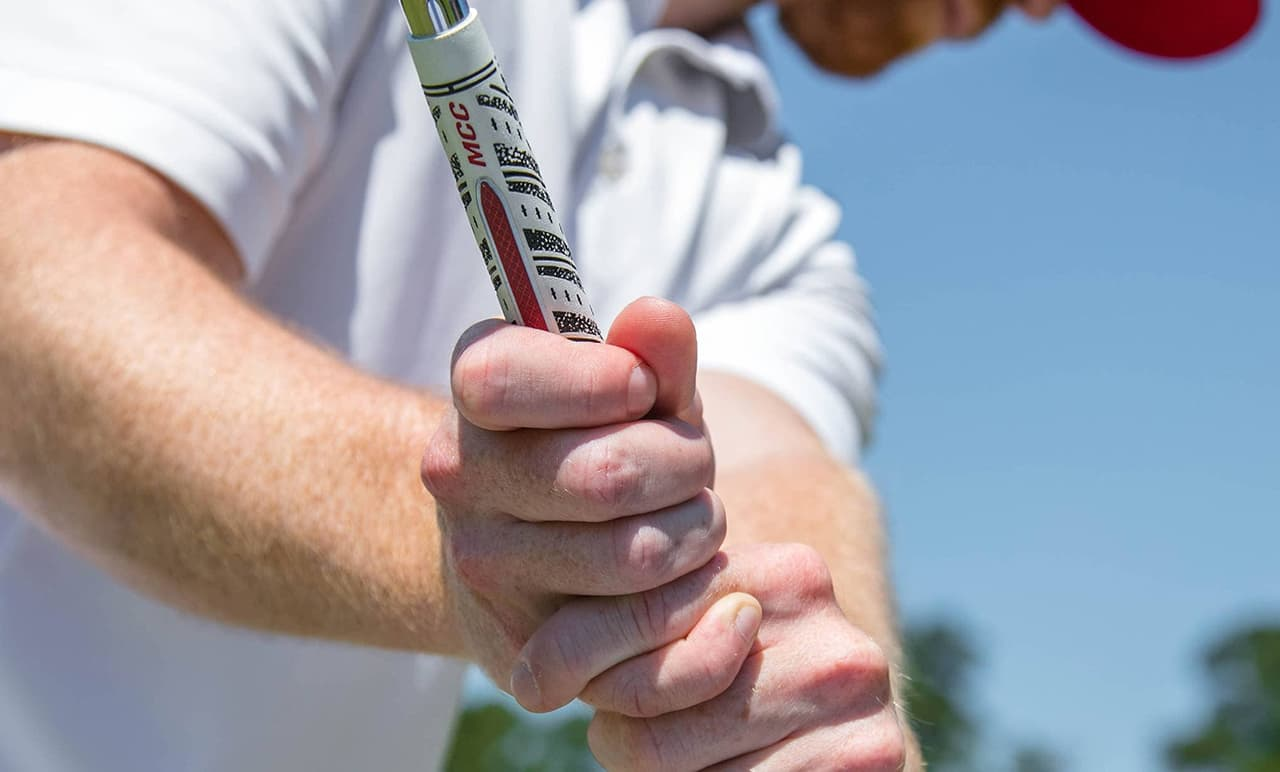 Golfer Playing an MCC ALIGN Golf Grip