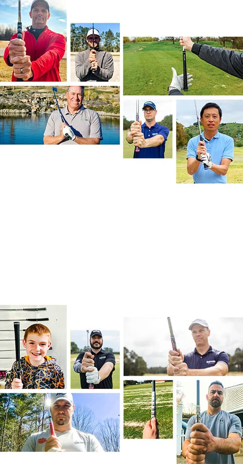 Collage of Golfers Sharing Their Golf Pride Grip Fit